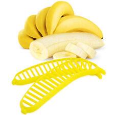 Kitchen Yellow Plastic Banana Slicer Cutter Chopper Kitchenware Utensil N3