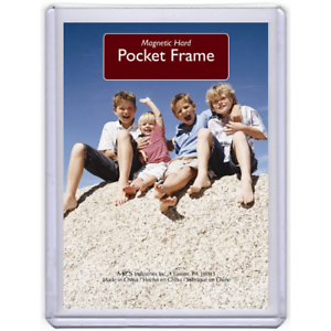Magnetic Pocket Style Wallet Sized Photo Holder Refrigerator 99