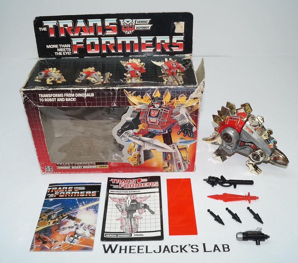 Gruñido Menta en caja 100% Completo C 2018 Vintage Hasbro Figura De Acción Transformers G1