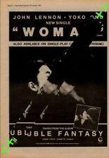 John Lennon Yoko Ono Woman Advert NME Cutting 1981