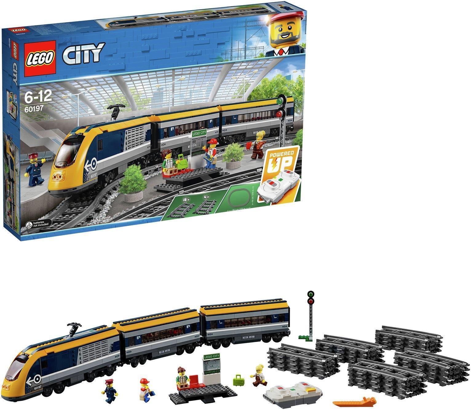 LEGO nuova città ad Alta velocità passeggeri treno giocattolo scatola sigillata costruzione Set-60197