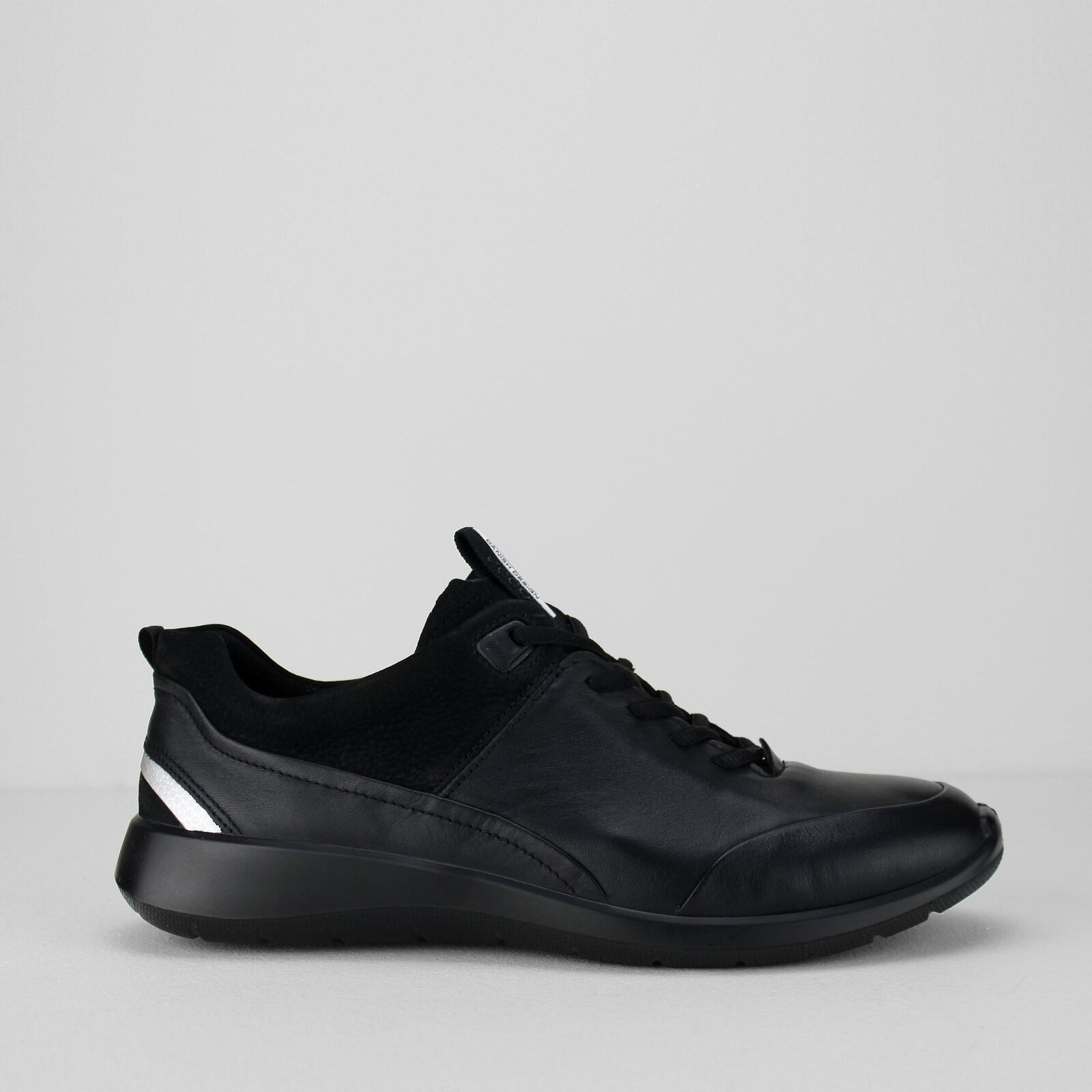 ECCO SOFT 5 Ladies donna Nubuck Leather Lace Up Casual  Comfy Trainers nero  liquidazione fino al 70%