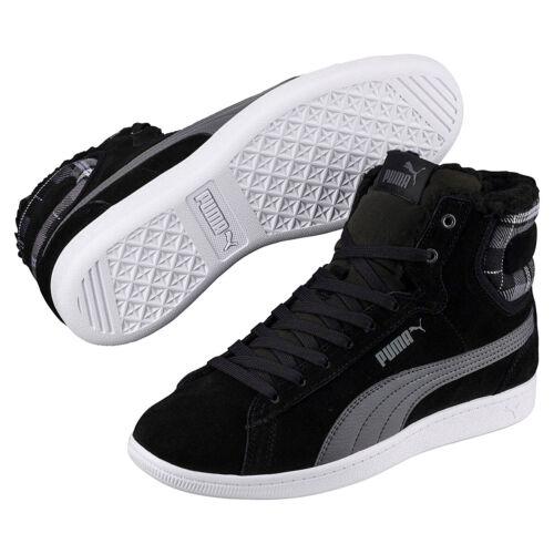 Enfants Femmes Pour Chaussures Noir Doublé D'hiver Mi Baskets Puma Vikky Wtr aOAgxqBxYw