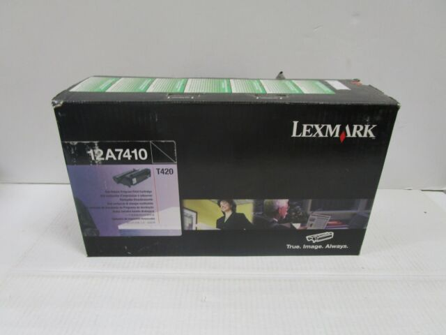 GENUINE LEXMARK 12A7410 High Yield BLK Toner T420D T420DN NEW SEALED SEE PHOTOS