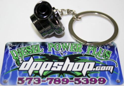 Turbo keychain powerstroke duramax cummins truck key chain fob car stage 1 black