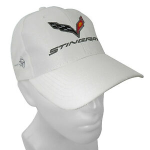 Chevrolet Corvette C7 Stingray White Baseball Cap