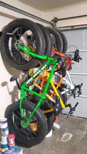 Holds 2 Bikes Metal Storage Hooks StoreYourBoard BLAT Bike Fat Tire Wall Rack