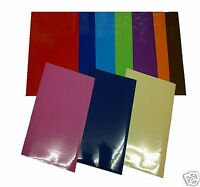 A4 VINYL SHEETS PACKS OF 20,10 OR 5 SELF ADHESIVE STICKY BACK PLASTIC SIGNMAKING