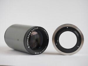 Diaprojektorobjektiv-Pentacon-3-5-140mm-mit-Eigenbauadapter-M42-Zubehoerpaket