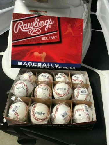 Rawlings NCBA Baseballs One Dozen New Baseballs in plastic wrapping and box