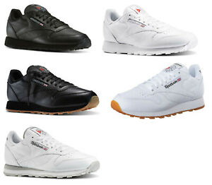 Reebok-Classic-Leather-White-Grey-Black-Gum-Sneakers-Trainers-Tennis-Shoes