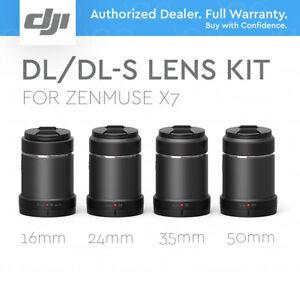 DJI DL/DL-S Lens Kit for Zenmuse X7 (Set of 4) 16mm, DL24mm, 35mm, 50mm.