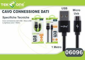 2019 DernièRe Conception Cavo Dati Usb Tekone 9a Connettore Microusb Micro Usb 1mt Smartphone Hsb