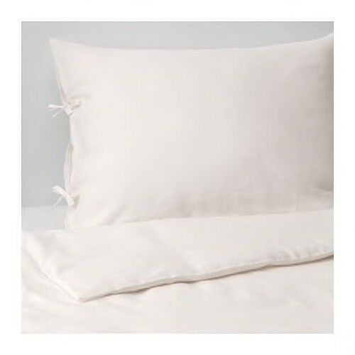 PUDERVIVA Duvet cover and pillowcase(s), white, Full Queen (Double Queen)