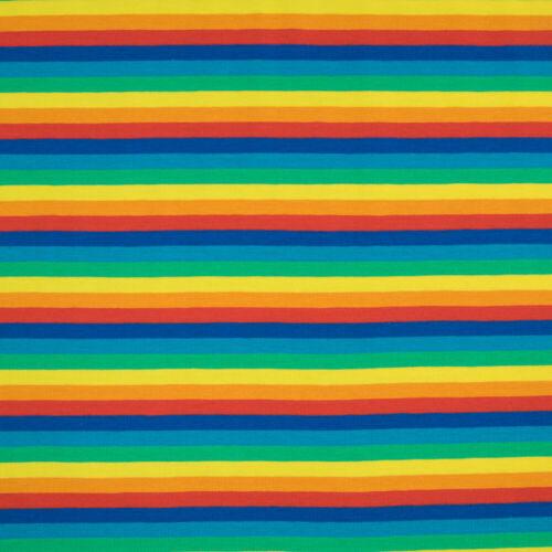 Baumwolljersey Streifen bunt Modestoffe Kinderstoffe Damenstoff Preis=0,5m
