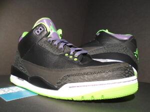 45c5709b2020 Nike Air Jordan III 3 Retro JOKER ALL-STAR BLACK CEMENT GREEN PURPLE ...