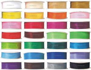 32m-Chiffonband-6-9-12-18-25-38mm-breit-Organza-Geschenkband-28-Farben-DEKO