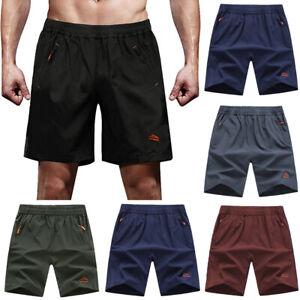 Men-039-s-Outdoor-Quick-Dry-Sports-Shorts-Lightweight-Zipper-Pockets-Short-Pants-US