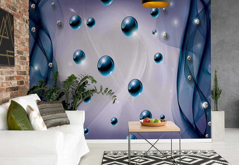 VLIES Fototapete-3D KUGELN-(2605)-Abstrakt Muster Diamanten Design Mural xxl