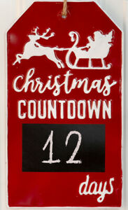 Christmas Countdown 2019.Details About Christmas 2019 Special Fun Christmas Countdown Metal Wall Sign With Chalkboard
