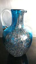 Zwiesel Vase Blubber Blasen blau turkis Krug Karaffe 2,5 Kg Blickfang