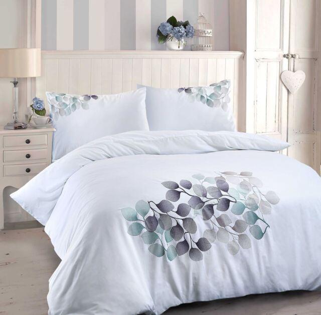 Luxury Leaf  3PC Poly Cotton Duvet Quilt Cover with Pillow Case Bedding Set
