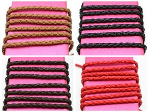 16-4-Feets-Braided-Bolo-Leatheroid-String-Jewelry-Cord-3mm-Colour-Choice