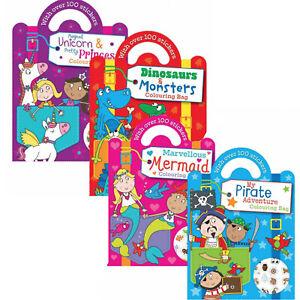 100-Sticker-Colouring-Book-Kids-Children-Fairy-Bag-Sketch-Activity-Fun-Art-Craft