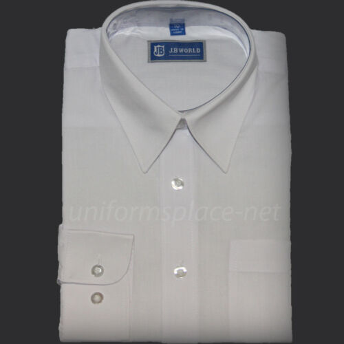 Boys Dress Shirts School Uniforms White Button Down Short or Long Sleeve Shirt