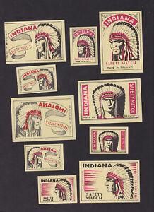 Ensemble-anciennes-etiquettes-allumettes-Belgique-BN80142-Indien-Annees-40-50