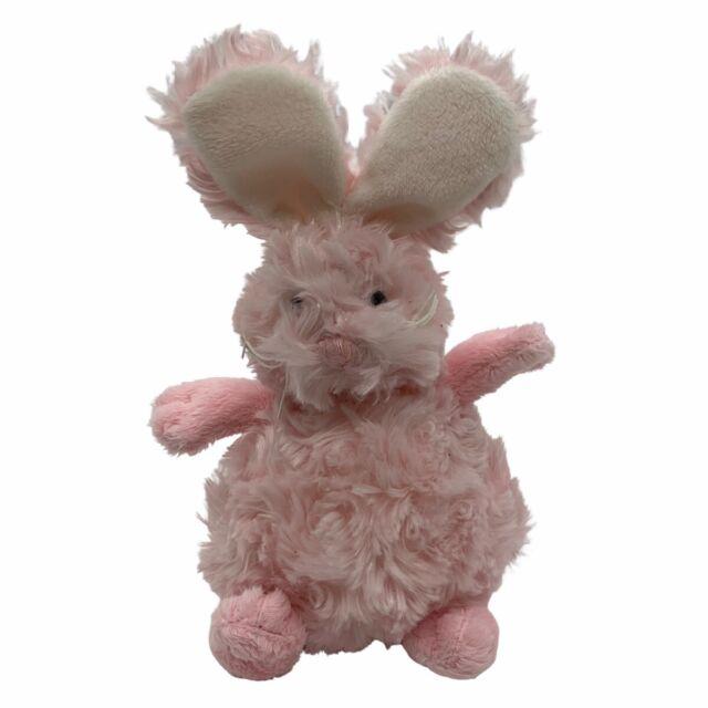 "Pink /& White Teddy Bear 18/"" Fluffy Bunny Rabbit"
