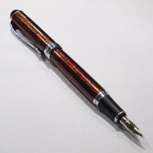 Zebra G Flex Nib Calligraphy UK SOLD Jinhao X750 Lava Red Marble Fountain Pen