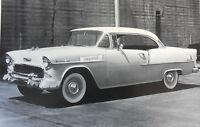 12 By 18 Black & White Picture 1955 Chevrolet 210 Hardtop 2 Door