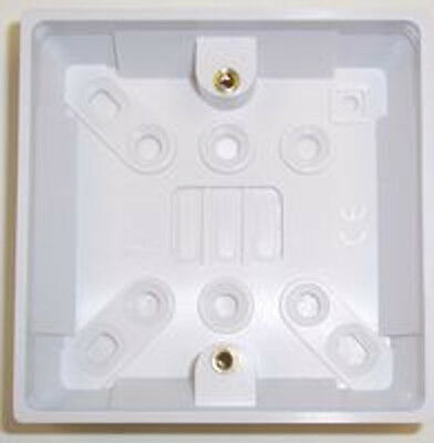 25MM Single Wall 1 Gang Plug Electric Pattress Back Box Surface Mount Electrical