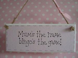 Handmade-Hanging-Mum-Bingo-Sign-Plaque-Ideal-Gift-For-Mum-Mothers-Day-Present