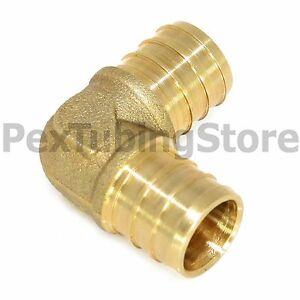 """(25) 3/4"""" PEX Elbows - Brass Crimp Fittings"""