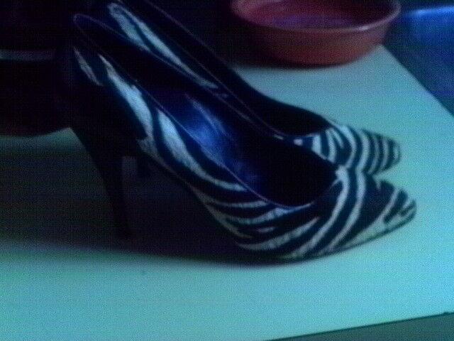 Sito ufficiale Adige Paris Zebra fur pumps 7 France France France  225 1980'S CALF FUR  COUTURE scarpe Dimensione 7  wholesape economico
