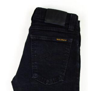 Nudie Jeans Femmes Serré Long John Slim Jeans Extensible Taille W25 L32 AGZ107