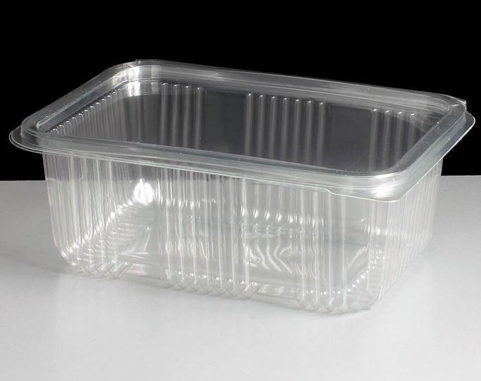 Rectangulaire charnière Salade Pates Alimentaires Conteneurs Box 750cc x 300