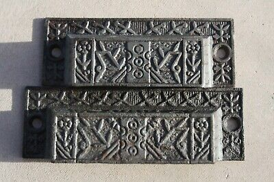 Vintage Cast Iron Victorian Drawer Handle Bin Pull 3 OC Aesthetic Era