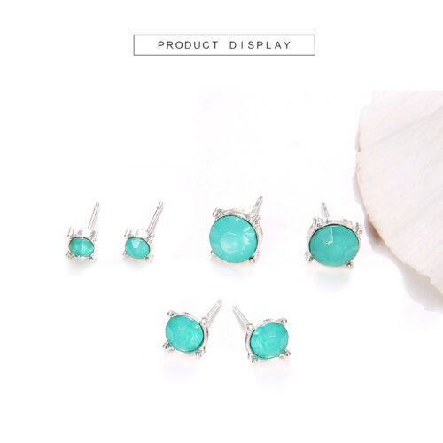 3 Paire//set femmes Lady Rose Vert Mignon Oreille Clous D/'Oreilles Casual Party Jewelry Gift