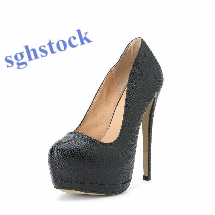 Ldies Stiletto Heel shoes Platform shoes Slip Om High Heel Wedding shoes EUR 47