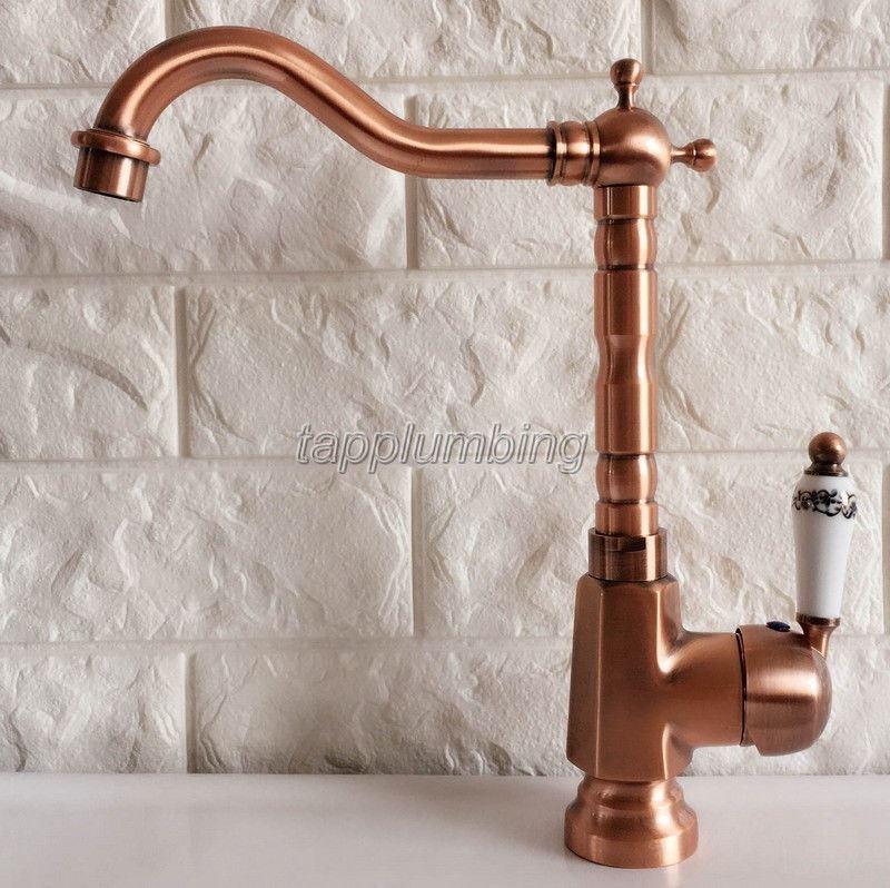 Antique Rouge Cuivre salle de bain bassin robinet robinet de cuisine robinet d'évier Robinet tnf400