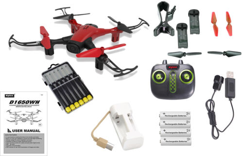 Red Sky Phan WiFi FPV Drone Bundle with Must Have Accessories 23pcs Set