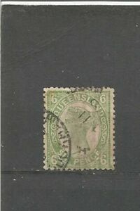 Queensland-Reine-Victoria-six-pence-OLD-STAMPS-TIMBRES-SELLOS-timbres