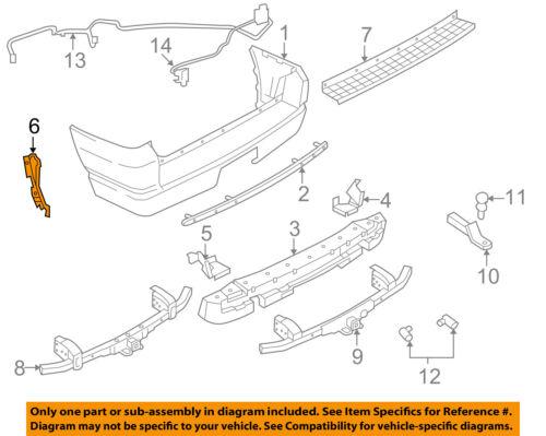 FORD OEM 02-10 Explorer Rear Bumper-Absorber Bracket Right 3L2Z17D942AA