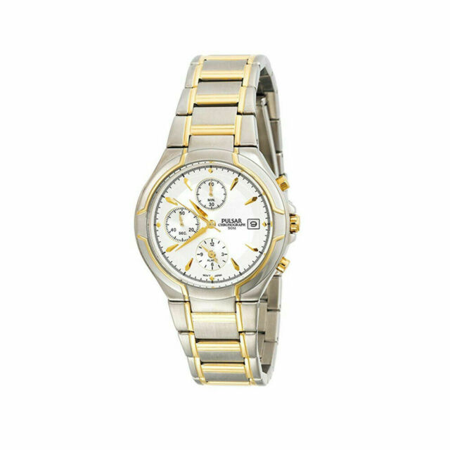 554236708 Pulsar Men's PF3544 Alarm Chronograph Two-tone Stainless Steel Watch ...