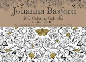Johanna Basford 2017 Coloring Day To Calendar By 2016