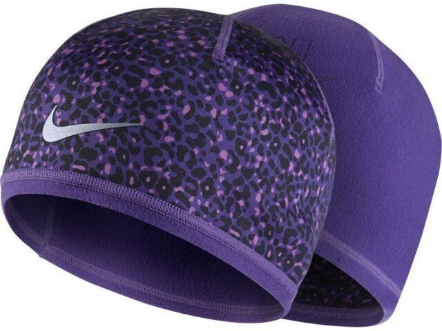 58ce6dd48907 NIKE WOMEN RUNNING LOTUS WINTER REVERSIBLE BEANIE CAP HAT - PURPLE  852340-547