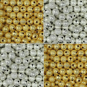 Wholesale-Silver-Gold-Plated-Round-Brass-Spacer-Beads-4mm-6mm-8mm-10mm